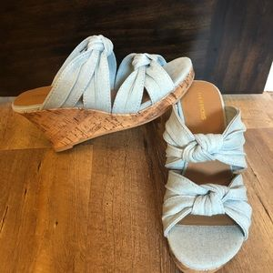 Chambray wedges